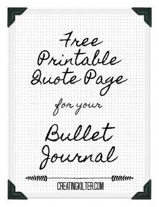 Free Bullet Journal Printable Work Bullet Journal Quotes