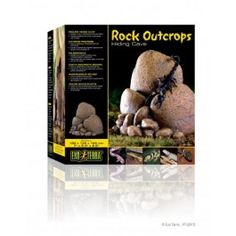 Rock outputs that allow 3-dimension climate for reptiles.