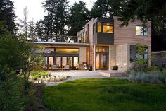 Sustainable home with modern design aesthetic Yes.
