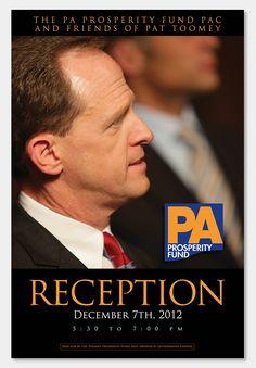 Campaign Design:  Reception for Senator Pat Toomey PA Prosperity Fu...