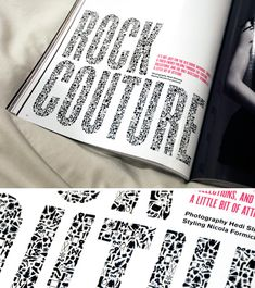 Cool typography from V Magazine
