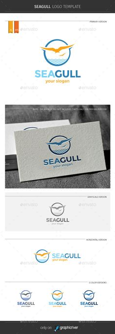 Seagull Logo Template — Vector EPS #sailing #summer • Available here → https://graphicriver.net/item/seagull-logo-template/11450512?ref=pxcr