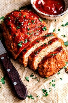 Turkey meatloaf is a favorite in our house! This healthy meatloaf recipe made with lean ground turkey is easy and delicious. # Easy Recipes for men Turkey Meatloaf Healthy Meatloaf, Meatloaf Recipes, Meat Recipes, Cooking Recipes, Dinner Recipes, Easy Meatloaf, Meatloaf Muffins, Sausage Recipes, Delicious Recipes