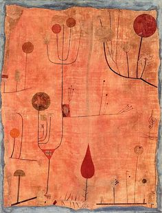 Paul Klee - Fruits on Red - 1930