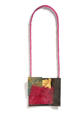LUCIA MASSEI   ottobre, 2011  Ottobre | necklace year 2011 iron, aluminum, yellow gold, shibuichi