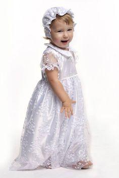 Комплект крестильное платье для девочки с гипюром белый 945 грн. #запорожье #киев #днепропетровск #дитячийтовар #кривойрог #одесса #родители #украина #дети #діти #children