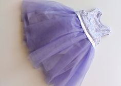 Lavender, Purple Baby, Flower Girl Cotton, Satin and Lace Tutu Dress, Wedding, Easter, Birthday, Princess Sofia Party