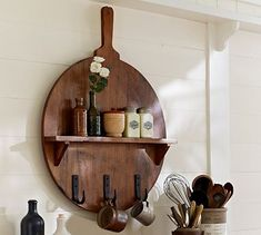 Cuisine Board Shelf with Hooks - LOVE THIS!