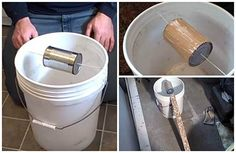 The bucket mouse trap catches many mice in a single trap and does not need to be reset between mice. It's also so simple to make that you probably already have most the parts parts needed lying around your home. The bucket mouse trap catches man Rat Trap Diy, Mouse Trap Diy, Best Mouse Trap, Homemade Mouse Traps, Bucket Mouse Trap, How To Make Traps, Catch A Mouse, Getting Rid Of Mice, Rat Traps