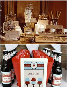 Smore's or Root Beer Float bar! Soda Floats, S'mores Bar, Root Beer, Event Design, Event Planning, Make Your Own, Wedding Planner, Wedding Day, Food Bars