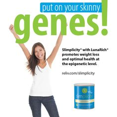 It's time to put on your skinny genes with Reliv #Slimplicity! #epigenetics #weightloss #newyear #healthyweight #nutrition
