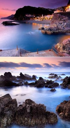 Lava pool in Madeira, Portugal.