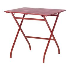 IKEA - MÄLARÖ, Table, red, , Perfect for your balcony or other small spaces as it can be folded up and put away.