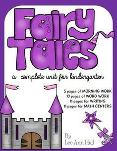 Kindergarten Fairy Tale Unit - Math, Literacy, and Morning Work! Kindergarten Units, Kindergarten Reading, Teaching Reading, Teaching Ideas, Fairy Tales Unit, Fairy Tale Theme, Thematic Units, Teacher Tools, Dramatic Play