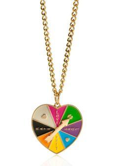 Love-o-meter heart spinner necklace