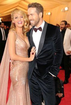 Ryan Reynolds & Blake Lively @ Met Gala 2014