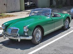 1961 MGA brought to you by at in British Sports Cars, Classic Sports Cars, Classic Cars, Vintage Cars, Antique Cars, Sports Car Photos, Old Muscle Cars, Mg Cars, Engin