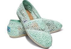 Mint green lace toms womens