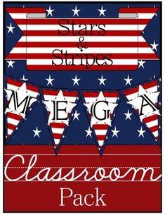 Stars & Stripes Classroom Theme Mega Pack
