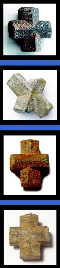 """I call these the Fairy Cross... Cynthia pinned: Staurolite Crystals Found in Patrick County, Virginia : My favorite """"Power"""" Stone!"""