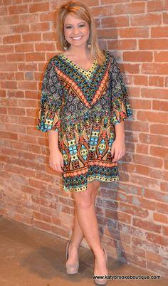Geometric Chiffon Tunic/Dress: Katybrooke Boutique