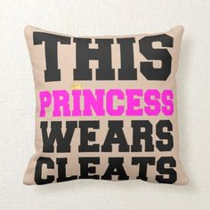 Decorative Cushion Cover This Princess Wears Soccer Softball Cleats Throw Pillow Case Inches Softball Decorations, Softball Crafts, Softball Bows, Softball Shirts, Girls Softball, Softball Stuff, Baseball Mom, Softball Party, Sports Baseball