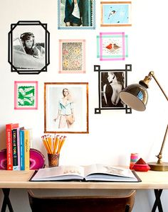 Use tape to frame your art!