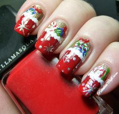 Christmas Nail Art Ideas Pointless Cafe Stockings Holiday Nails