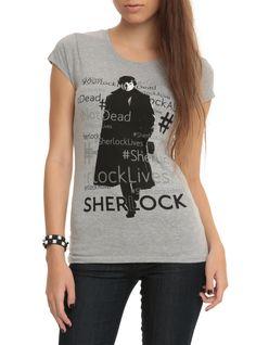 Sherlock #SherlockLives Girls T-Shirt