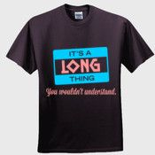 Create your own personalized LONG T Shirt using our online designer. No minimum order.