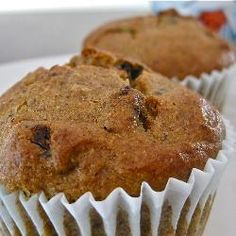 Glutenvrije muffins met appel, kaneel en rozijnen