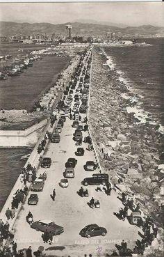 Rompeolas de Barcelona, antes de la remodelación del Port Vell, Barcelona