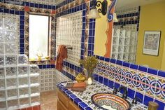 mexican style walk in shower - Google Search