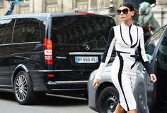 Giovanna Battaglia's style is epic. Paris Fashion Week Fall 2012. Shot by Tommy Ton of course.-Michael Rayhill