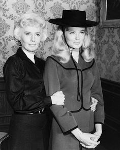 """The Big Valley""  Miss Barbara Stanwyck and Linda Evans portray a mother and daughter in ""The Big Valley."""