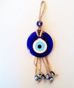 Macrame Evil Eye Home Decor Evil Eye Charm, Macrame Art, Hamsa Hand, Blue Beads, Charmed, Decoration, Eyes, Turkey Images, Eye Protection