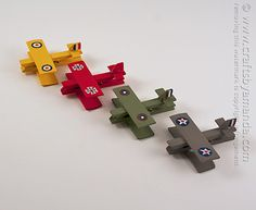 Clothespin Airplanes: Snoopy and the Red Baron by Amanda Formaro of Crafts by Amanda, family fun