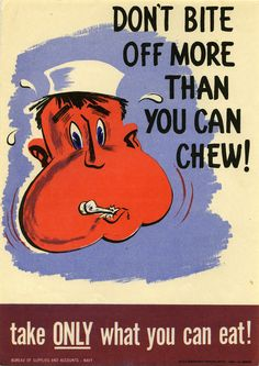 US Navy Posters From WWII Teach Moderation