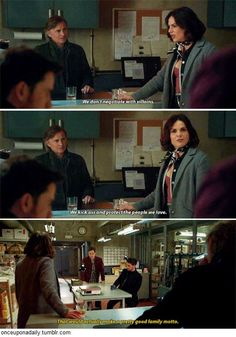 """We don't negotiate with villains. We kick ass and protect the people we love"" The Mills Family motto #OnceUponATime"