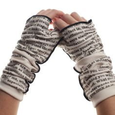 Pride and Prejudice Writing Gloves  -   https://www.etsy.com/listing/127500619/pride-and-prejudice-writing-gloves?ref=related-4