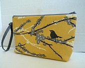 Zippered Diaper Clutch - In Sparrows in Granite Or Custom Design Your Own