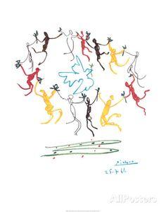 La ronde de la jeunesse Affiche par Pablo Picasso sur AllPosters.fr  15E