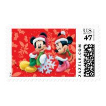 Disney: Holiday Mickey and Minnie Postage Stamp