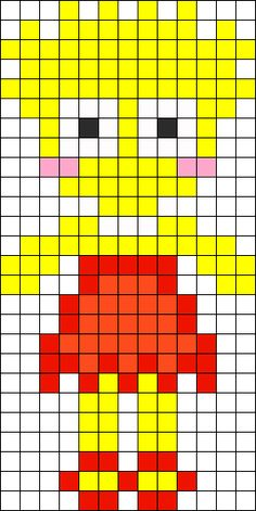 Lisa Simpson perler bead pattern