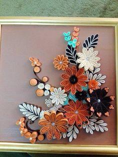 Floral Piece - by: Unknown Quiller
