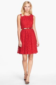 Ellen Tracy Lace Fit & Flare Dress (Regular & Petite) available at #Nordstrom