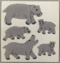 2 Sheets Sealed Vintage Post-it Removable Zoo Animal Stickers