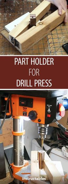 If you need to secure a small part on your drill press, check out this jig! #drillpress #workshop #hack