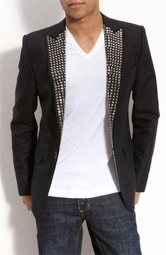 dsquared2 studded lapel blazer