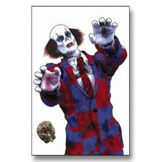 Zombie Clown Target Poster now available at http://www.karatemart.com/